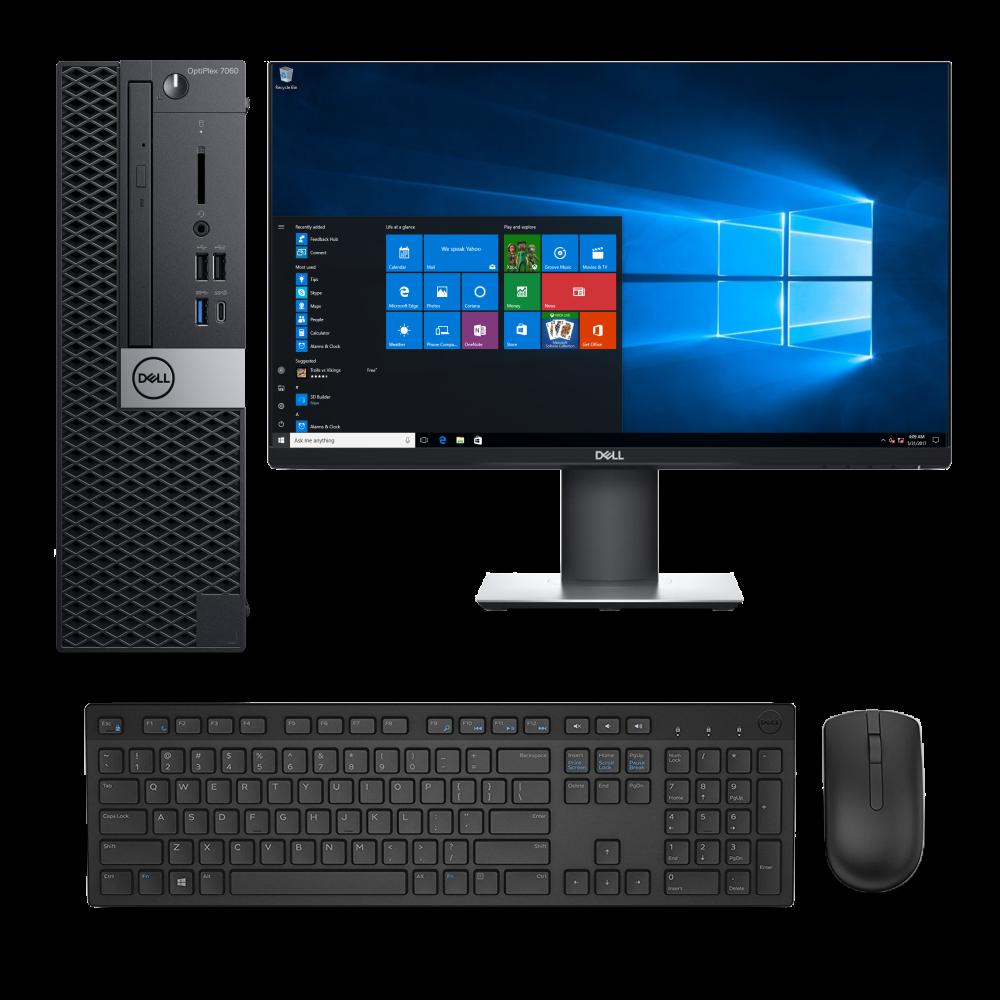 PC SET Dell OptiPlex 7060, Dell Οθόνη 24', Dell ασύρματο πληκτρολόγιο & ποντίκι