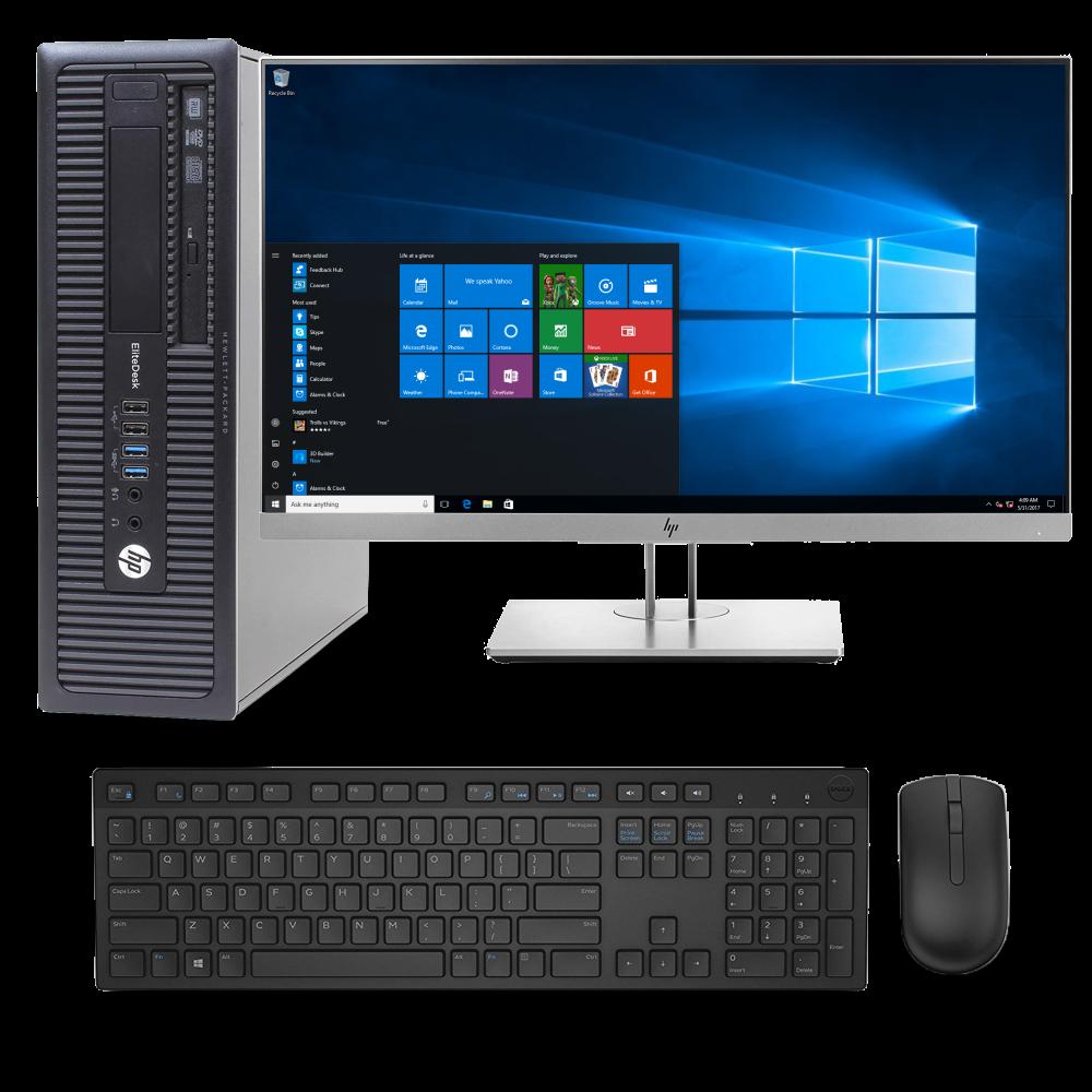 PC SET HP EliteDesk 800 G1, HP Οθόνη 24'', ασύρματο πληκτρολόγιο & ποντίκι